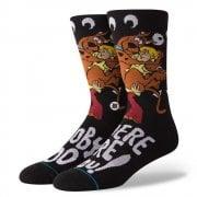 Stance Mens New Classic Crew Scooby Doo Comfort Red Socks