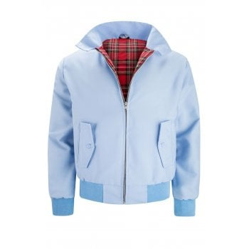 Threads Harrington Jacket Coat Mod Tartan Check Blue Bell