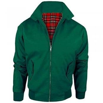 Threads Harrington Vintage Jacket Coat Mod Tartan Check Forest Green