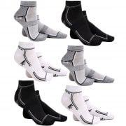 Mens 3 Pairs Trainers Socks Invisible Shoe Gym Summer Ankle Liner Size 6-11