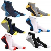 Mens 6 Pairs Trainers Socks Invisible Shoe Gym Summer Ankle Liner Size 6-11