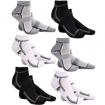 Threads Mens 6 Pairs Trainers Socks Invisible Shoe Gym Summer Ankle Liner Size 6-11