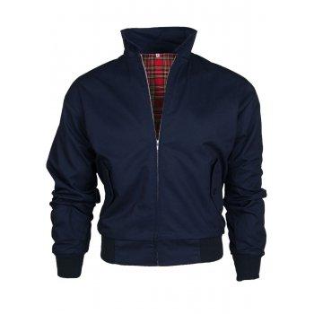 Threads Mens Harrington Vintage Jacket Coat Mod Tartan Check Navy