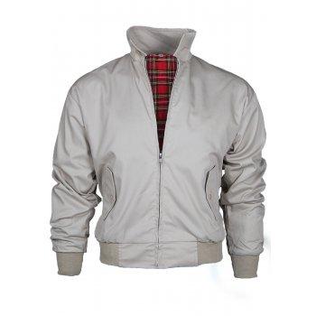 Threads Mens Harrington Vintage Jacket Coat Mod Tartan Check Stone
