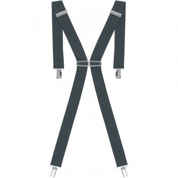 """Threads Mens Heavy Duty Dark Grey Braces Trouser Belt Suspender 1.5"""" 35mm Wide"""