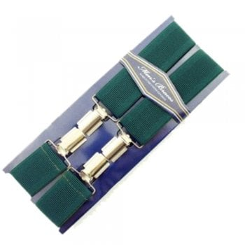 """Threads Mens Heavy Duty Green Braces Trouser Belt Suspender 1.5"""" 35mm Wide"""