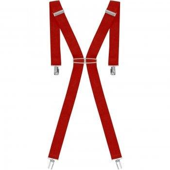 "Threads Mens Heavy Duty Red Braces Trouser Belt Suspender 1.5"" 35mm Wide"