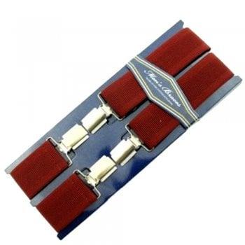 """Threads Mens Heavy Duty Wine Braces Trouser Belt Suspender 1.5"""" 35mm Wide"""