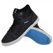Canvas High Tops Pumps Lace Ups P84 Black