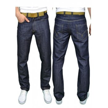 Twisted Faith Mens Designer Branded Comfort Fit Straight Leg Rinse Jeans