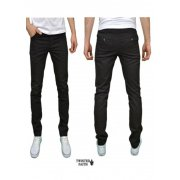 Twisted Faith Mens Designer Slim Fit Black Chinos