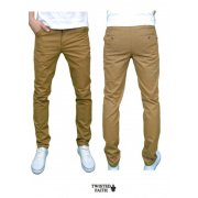 Twisted Faith Mens Designer Slim Fit Tobacco Chinos