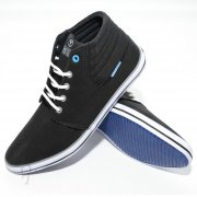 P76 Canvas High Tops Pumps Lace Ups Black