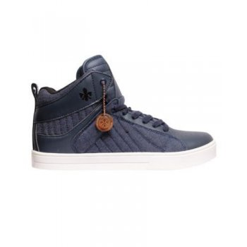 Twisted Faith Viper Hi Top Chunky Trainers Navy