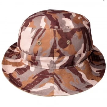 Warrior Clothing Bucket Hat Reversible Lambretta Desert Camouflage