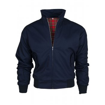 Warrior Clothing Harrington Jacket Coat Mod Tartan Check Navy