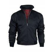Threads Mens Harrington Vintage Jacket Coat Mod Tartan Check Black