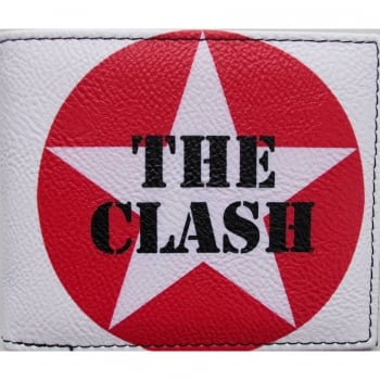 Warrior Clothing Warrior 1970s Style Punk PU Wallet The Clash White