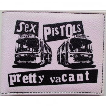 Warrior Clothing Warrior 1970s Style Punk Vintage Wallet Pretty Vacant White