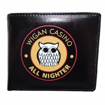 Warrior Clothing Warrior 1970s Style Vintage Wigan Casino Embossed All Nighter Black Wallet