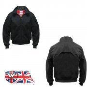 Warrior Mens New Prestige Vented Harrington Jacket Black