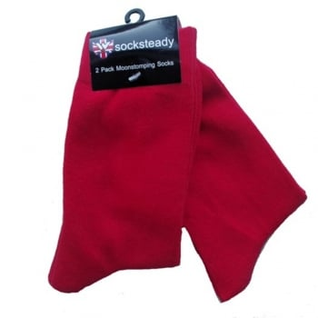 Warrior Clothing Warrior Mod Man Skin Head Design Socks 2 Pack Red Scooter Skinhead