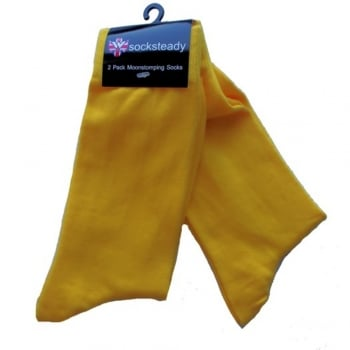 Warrior Clothing Warrior Mod Man Skin Head Design Socks 2 Pack Yellow Scooter Skinhead