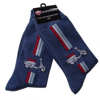 Warrior Clothing Warrior Retro Lambretta Vintage Socksteady Socks pack of 2 pairs Mod Scooter