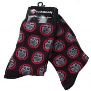 Warrior Retro Night Owl Vintage Socksteady Socks pack of 2 pairs Mod Black