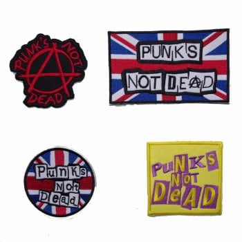 Warrior Clothing Warrior Set of 4 Classic Punks Not Dead Sewn Patches Badges