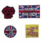 Warrior Set of 4 Classic Punks Not Dead Sewn Patches Badges
