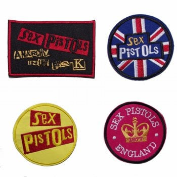 Warrior Clothing Warrior Set of 4 Classic Sex Pistol Sewn Patches Badges