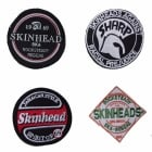 Warrior Set of 4 Classic Skinhead Sewn Patches Badges