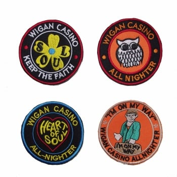 Warrior Clothing Warrior Set of 4 Wigan Casino Emboidered Patches Badges