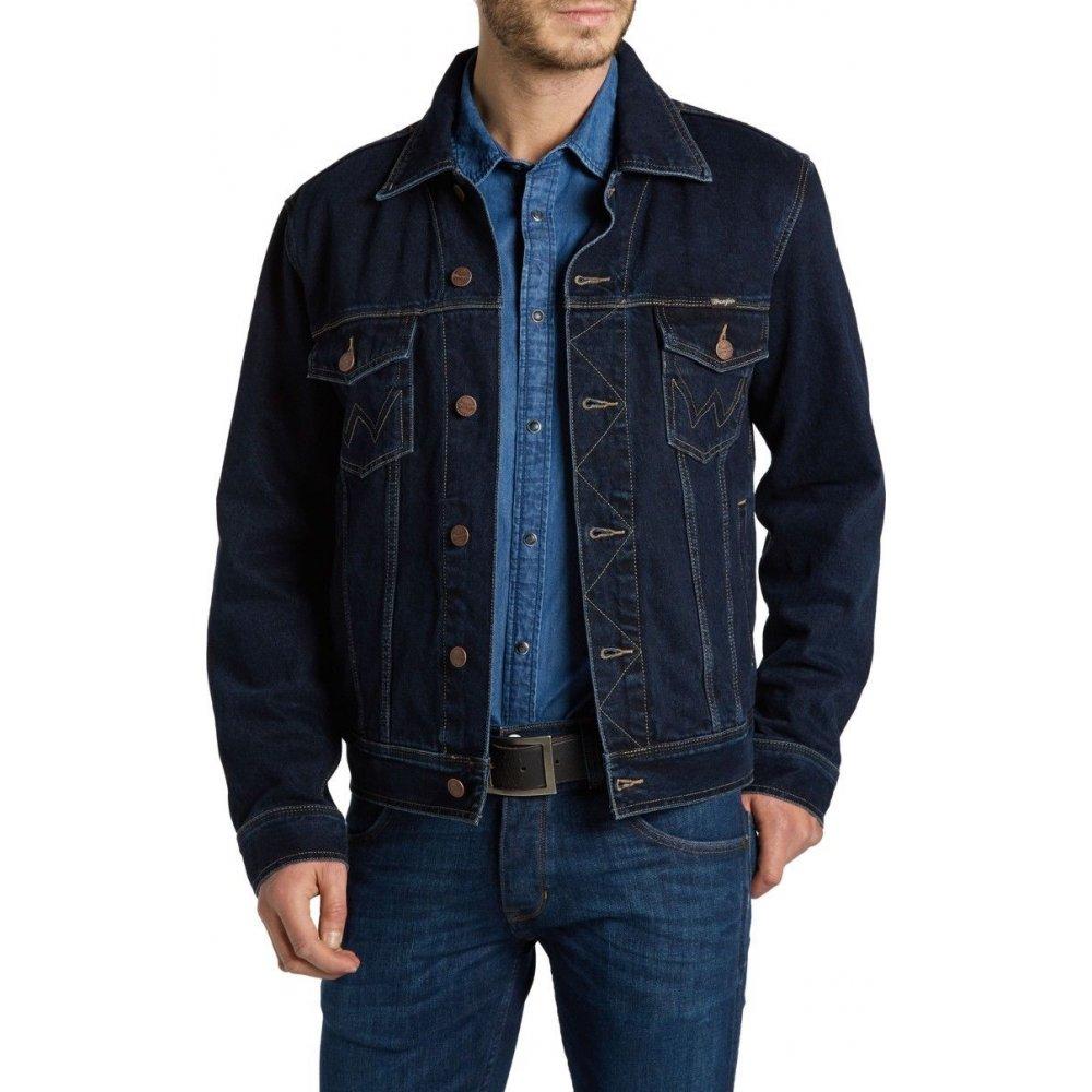 wrangler authentic western denim jacket indigo. Black Bedroom Furniture Sets. Home Design Ideas
