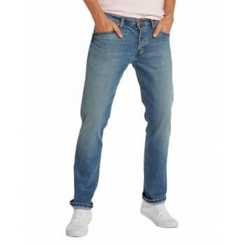 "Wrangler Mens Greensboro 36"" Leg Straight Leg Jeans Mid Used Stonewash"