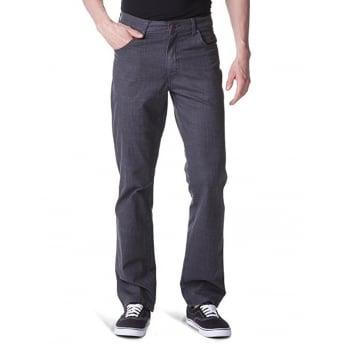 Wrangler Texas Mens New Regular Fit Stretch Hash Jeans Black