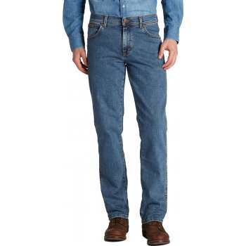 Wrangler Texas Mens New Stretch Regular Fit Authentic Jeans Stonewash Blue