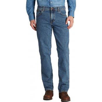 Wrangler Texas Mens New Stretch Regular Fit Authentic Jeans Stonewash Blue
