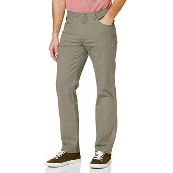 Wrangler Texas Mens New Stretch Regular Fit Twill Chino Jeans Dusty Olive