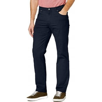 Wrangler Texas Mens New Stretch Regular Fit Twill Chino Jeans Navy