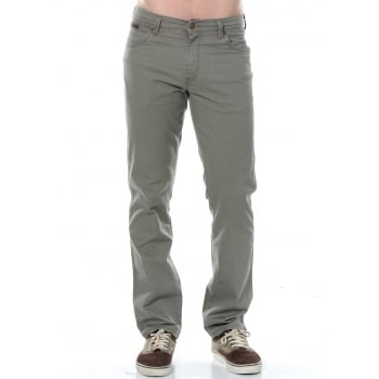 Wrangler Texas Mens New Stretch Soft Fabric Jeans Dusty Olive