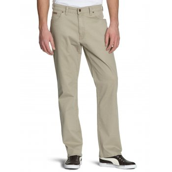 Wrangler Texas Mens New Stretch Twill Soft Fabric Chino Jeans Camel