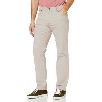 Wrangler Texas Mens New Stretch Twill Soft Fabric Chino Jeans Stone