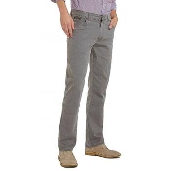 Wrangler Texas Mens Regular Fit Stretch Hash Jeans Quiet Grey
