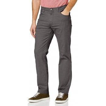 Wrangler Texas Mens Regular Fit Stretch Jeans Shale Grey