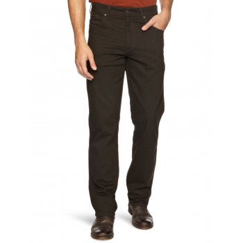 Wrangler Texas Mens Stretch Regular Fit Moleskin Jeans Dark Teak