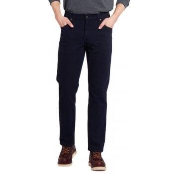 Wrangler Texas Mens Stretch Regular Fit Moleskin Jeans Navy