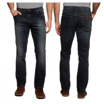 "Wrangler Texas Regular Fit Stretch 36"" Leg Jeans Vintage Tint Jeans"