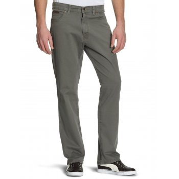 Wrangler Texas Regular Fit Stretch Twill Jeans Army Grey